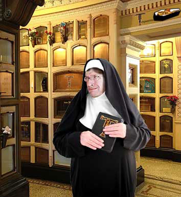 ColumbariumTour guide Sister Mary Collyer
