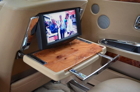 hearse with tv